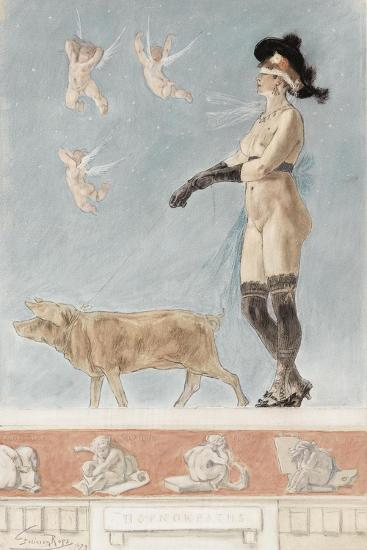 Pornokrates (La Dame Au Cocho)-F?licien Rops-Giclee Print