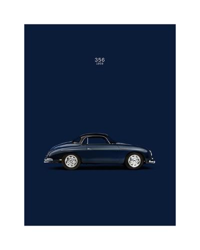 Porsche 356 1958 Blue-Mark Rogan-Giclee Print