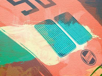 Porsche 356 Detail-NaxArt-Art Print