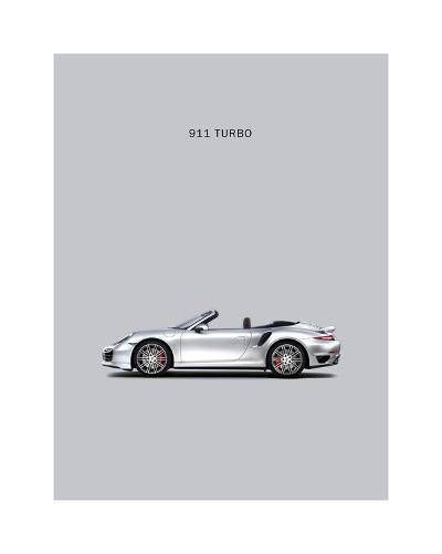Porsche 911 Turbo Grey-Mark Rogan-Giclee Print
