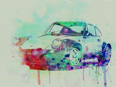 Porsche 911 Watercolor 2-NaxArt-Art Print
