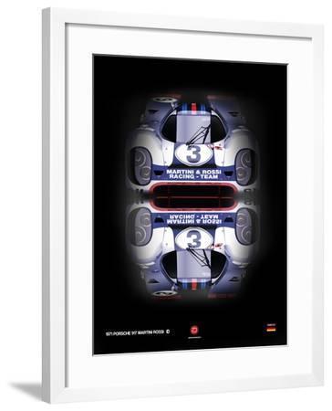 Porsche 917 Martini Rossi-NaxArt-Framed Art Print
