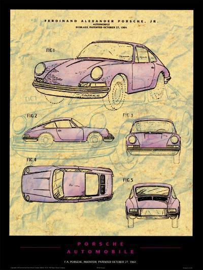Porsche Patent--Art Print