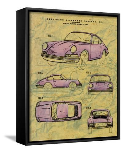 Porsche Patent--Framed Canvas Print
