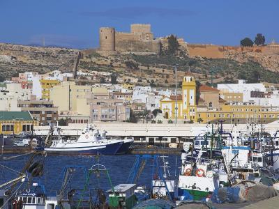 Port and Alcazaba, Almeria, Andalucia, Spain-Charles Bowman-Photographic Print