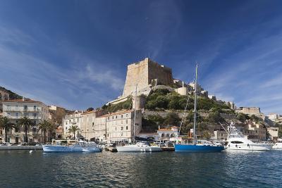 Port and Citadel at Morning, Bonifacio, Corsica, France-Walter Bibikow-Photographic Print