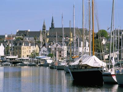 Port and Quarter of Saint Goustan, Town of Auray, Gulf of Morbihan, Brittany, France-Bruno Barbier-Photographic Print