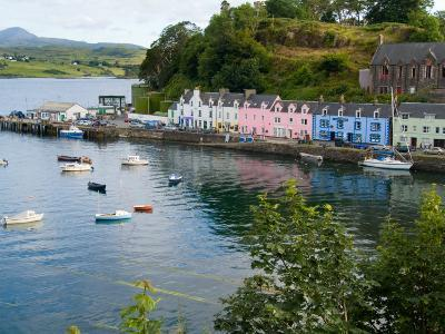 Port and Sailboats in Village of Portree, Isle of Skye, Western Highlands, Scotland-Bill Bachmann-Photographic Print