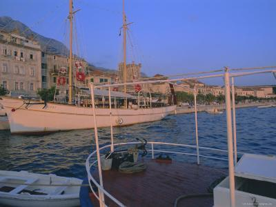 Port and Town of Makarska, Dalmatia, Dalmatian Coast, Adriatic, Croatia-Bruno Barbier-Photographic Print