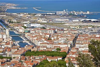 Port and Town, Sete, Herault, Languedoc-Roussillon Region, France, Europe-Guy Thouvenin-Photographic Print