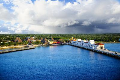 Port at Cozumel, Mexico-Don Fink-Photographic Print