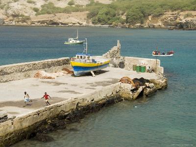 Port at Tarrafal, Santiago, Cape Verde Islands, Africa-R H Productions-Photographic Print