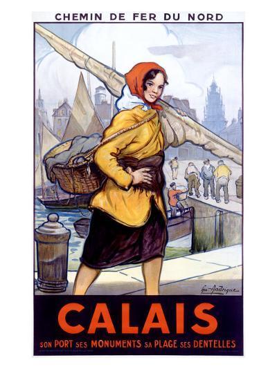 Port Calais Fishing Women--Giclee Print