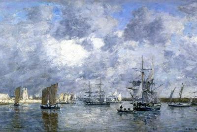 Port de Camaret-Eug?ne Boudin-Giclee Print