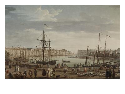 Port de Dieppe-Claude Joseph Vernet-Giclee Print