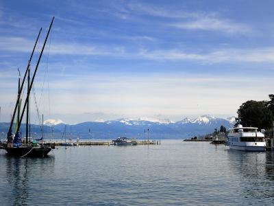 Port Des Mouettes, Lac Leman, Evian-Les Bains, Haute-Savoie, France, Europe-Richardson Peter-Photographic Print