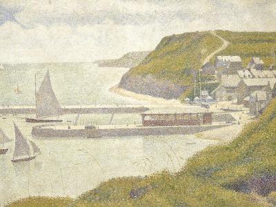 Port en Bessin, avant-port, marée haute (Calvados)-Georges Seurat-Giclee Print