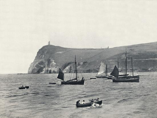 'Port Erin - Bradda Head, with the Milner Tower', 1895-Unknown-Photographic Print