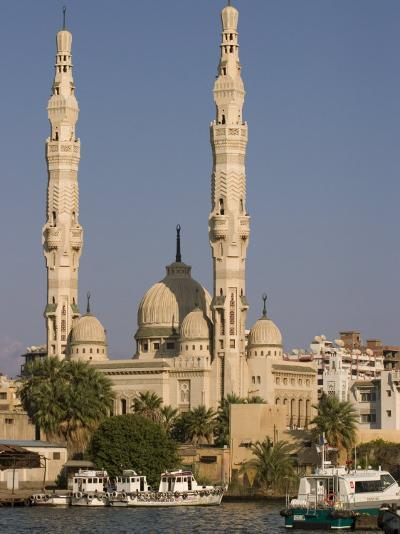 Port Fuad Mosque and the Suez Canal, Port Said, Egypt, North Africa, Africa-Richardson Rolf-Photographic Print