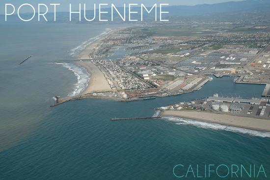 Port Hueneme, California - Mugu Lagoon Aerial-Lantern Press-Wall Mural
