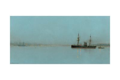 Port Light-John Atkinson Grimshaw-Giclee Print