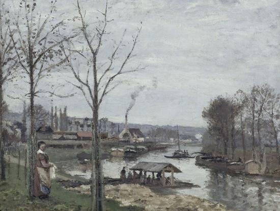Port-Marly, le lavoir dit à tort le lavoir, Pontoise-Camille Pissarro-Giclee Print