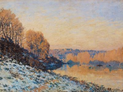 Port-Marly, White Frost, 1872-Alfred Sisley-Giclee Print