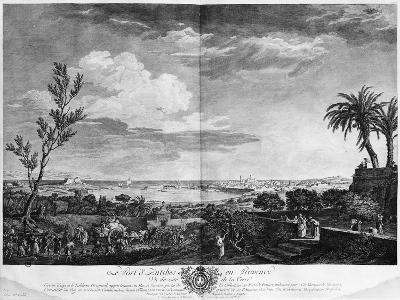 Port of Antibes in Provence, Series of 'Les Ports De France'-Claude Joseph Vernet-Giclee Print
