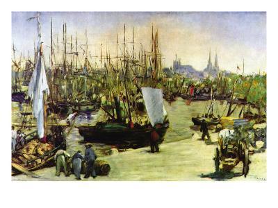 Port of Bordeaux-Edouard Manet-Art Print