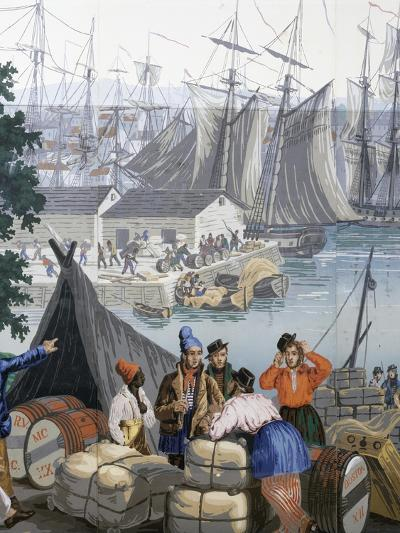 Port of Boston in United States of America--Giclee Print