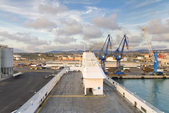 Port of Civitavecchia-lachris77-Photographic Print