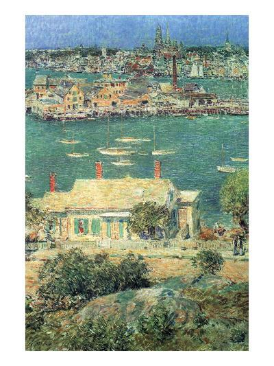 Port of Gloucester-Childe Hassam-Art Print
