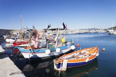 Port of Marciana Marina with Fishing Boats-Markus Lange-Photographic Print