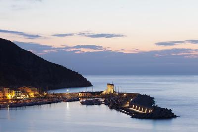 Port of Marciana Marina with Torre Pisana Tower-Markus Lange-Photographic Print