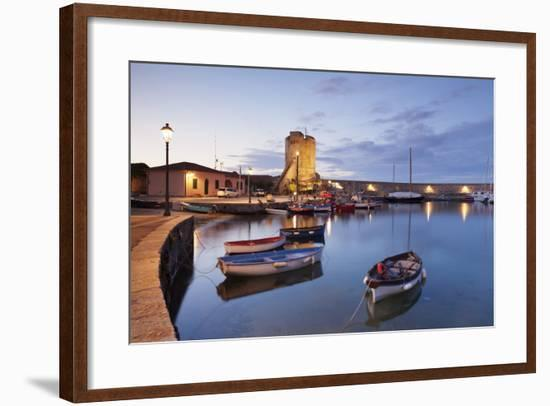 Port of Marciana Marina with Torre Pisana Tower-Markus Lange-Framed Photographic Print