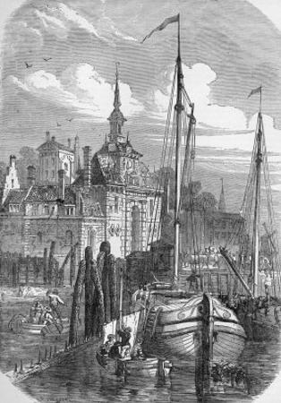 Port of Rotterdam, Holland, from 'The Illustrated London News', 1810