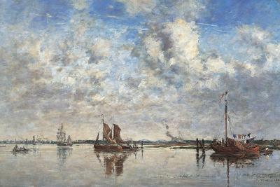 Port of Rotterdam-Eug?ne Boudin-Art Print