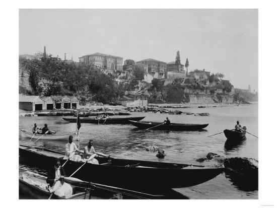 Port of Salacak in Uskudar Photograph - Istanbul, Turkey-Lantern Press-Art Print