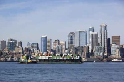 Port of Seattle, Container Ships, Seattle, Washington, USA-Jamie & Judy Wild-Photographic Print