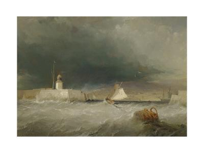 Port on a Stormy Day, 1835-George the Elder Chambers-Giclee Print