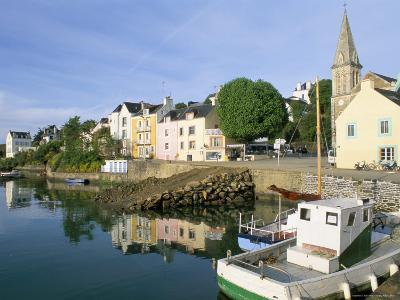 Port Sauzon, Belle Ile En Mer, Breton Islands, Morbihan, Brittany, France-Bruno Barbier-Photographic Print
