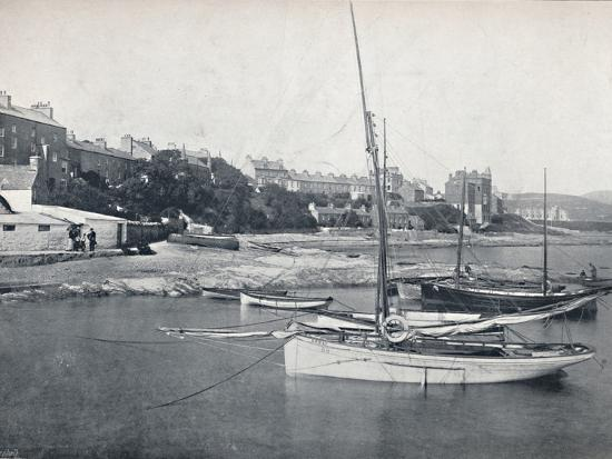 'Port St. Mary - The Town and Harbour', 1895-Unknown-Photographic Print
