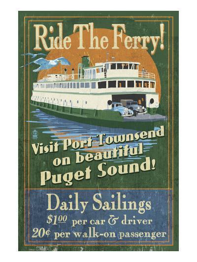 Port Townsend, Washington - Ferry-Lantern Press-Art Print