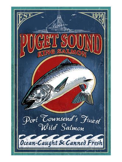 Port Townsend, Washington - Salmon-Lantern Press-Art Print