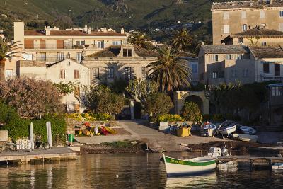 Port View at Dawn, Erbalunga, Le Cap Corse, Corsica, France-Walter Bibikow-Photographic Print
