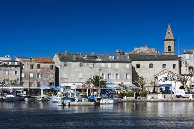 Port View of St-Florent, Le Nebbio, Corsica, France-Walter Bibikow-Photographic Print