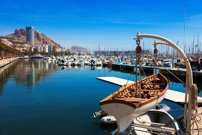 Port with Yachts in Alicante. Spain-JackF-Photographic Print
