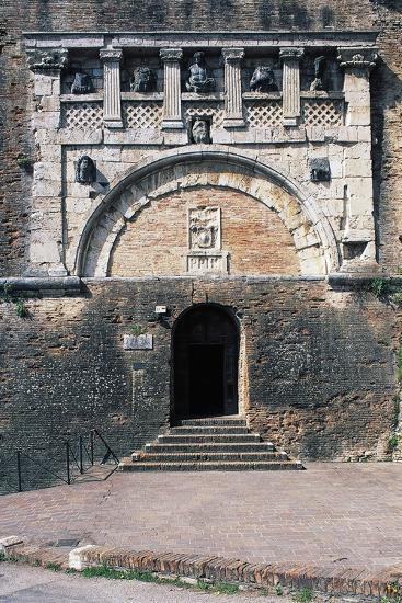 Porta Marzia, Ancient Etruscan Gate Incorporated into Walls of Rocca Paolina, Perugia, Italy--Giclee Print