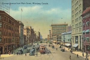 Portage Avenue from Main Street, Winnipeg, Manitoba, Canada