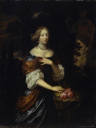 Portait of a Lady-(Workshop of) Caspar Netscher-Giclee Print